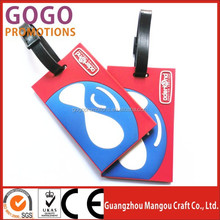 Made in china factory high quality factory cheap price travel soft pvc luggage tag, hot sale pvc baggage tag for travelling