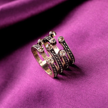2015 Wholesale Fashion Round Diamond Gay Men Ring