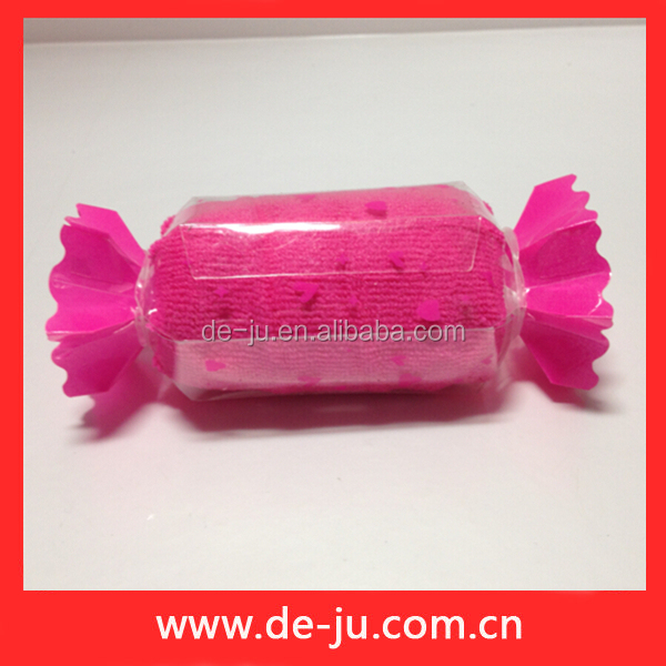 duas cores toalha de microfibra de sorvete em forma de corte lindo presente de casamento de vendedores