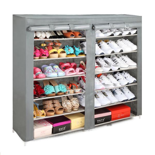 Wholesale modern elegant shoe cabinet fabric shoe rack for Armario zapatero pvc