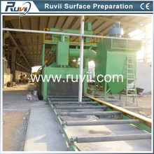 RV69 Roller Conveyor Type Auto Blaster for Steel Plates, Beams and Pipes