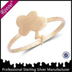 Fancy 925 silver zirconia rings for teenagers girls