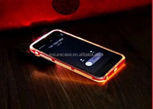 For Iphone 6 Flash Light Up LED Back Cover case, TPU PC Case for iphone 6 LED case