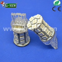 new hottest sale T20 27SMD 5050 led light white & red & cool white 7443 car led tuning light