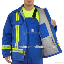 High Vis Reflective Safety Cotton Fire Retardant Jacket And Pants