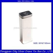 Metal por atacado chá de estanho / chá tin container / latas de chá com impressão prata