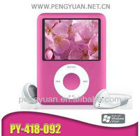 """3rd generation mp4 player 1.8"""" screen, support tf card slot (Item no:PY-418-092)"""