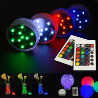 3AAA Battery Operated Remote Multi-Colors Mini Light Base Submersible Floralyte