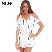 Skine 2015 new casual and loose women dress white and black plaid short butterfly sleeve V-neck hollow out playsuits mini dress