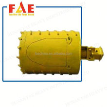 Heavy Duty Iron Core Polyurethane Fixed Industrial barrel caster--FAECHINA