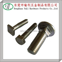 304 stainless steel flat head carriage bolt