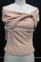 fancy off shoulder slim tops for women