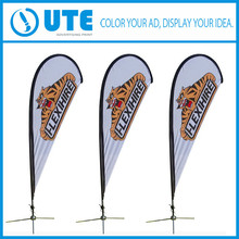 Aluminium Flagpole Flying Style and Polyester Flags & promotion Banners Material Custom Flag