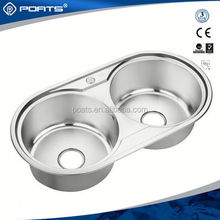 Excellent factory directly kitchen sink double bowl double drain of POATS