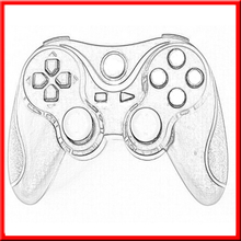 Wholesale Brand New mini bluetooth for playstation 3/ps3 black game controller