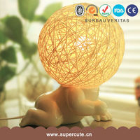 new arrived baby shaped 6 different poses white ceramic modern table lamps for bed room