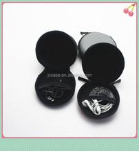 PU earphone accessories carrying case / round case