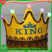 King crown light up birthday crown