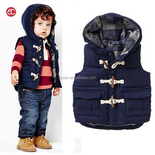 New Boys cute Thick Hooded Vest Children Outwear Warm Vest Coat