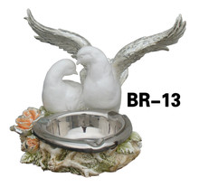 puro amor figura de paloma en resina