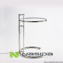 réplica tl012 marco de acero inoxidable de eileen gray e1027 tabla final de vidrio