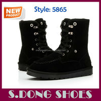 Latest fashion sheepskin ankle lady boot wholesale