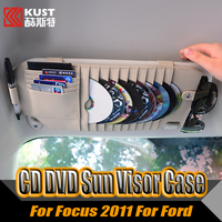 PU Multi-functional Sun Visor Case For Kugas 2012 2013 2014 2015 Decorative CD DVD Holder Case For Escape For Ford