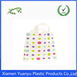Colorful dots with Soft loop contructed handle for shopping