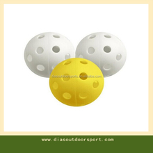 Airflow Hollow Perforated Plastic Golf Practice Training Balls