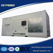 Powered by Mitsubishi, container type, 50/60hz 860kva, silent type, open type, high quality, good price, ce certified, hot sale