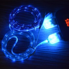 Fast Charging Flowing Visible EL Glow LED Lighting Up Charger High Quality Micro Led Usb Cable(OEM ODM)