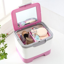 Portable Plastic Cosmetic Travel Carrying Case Storage Organizer