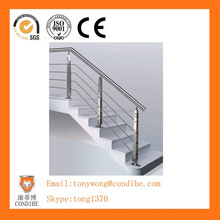 Stainless steel handrail/stair railing with pipes