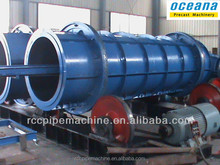 Centrifugal Spinning Cement Pipe making Machine, spigot and socket joint concrete tube mould
