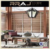 Roller Type Outdoor Wooden Blinds