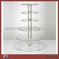 Crystal Round Acrylic 6-layer Cupcake Stand