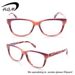 Hot selling fashion womens acetate optical frame