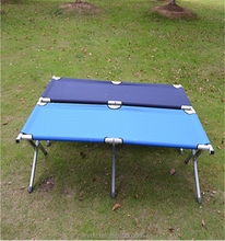 Fold the cot Folding outdoor camping bed bed aluminum tube sand bed outdoor cabana beds