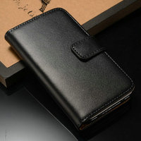 New arrival factory direct durable genuine leather flip phone case for IPhone 4/4S