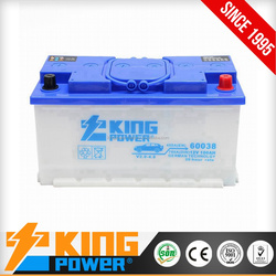 cheap lead acid car battery 12V88AH made in china dry charged car battery 58815