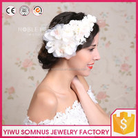 Elegant beautiful white artificial bridal flower crown wedding hair accessories