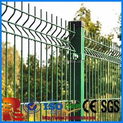 alibaba express decorative metal green trangle curved metal garden fencing /powder sprayed bending dark green wire mesh fence