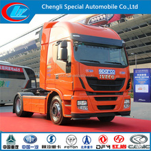 power tiller tractor trailer for ditching,6*4 351-450HP IVECO Tractor Truck,Easy to operated Tractor Head