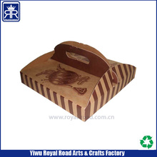 popular style colorful printed paper meal box with die cut handle