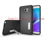 Armor Cases 2 in 1 TPU+Plastic Kickstand Net Heat Dissipation Phone Cases Cover For Samsung Galaxy Note 5
