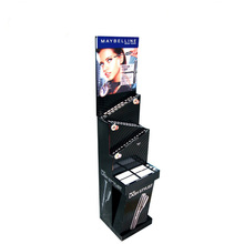 brand promotion cardboard corrugated free standing display racks for cosmetics promotion in chain stores