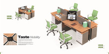 High quality arc full panel office cubicle design
