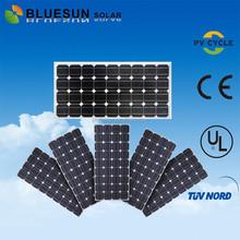 Bluesun chinese factory direct sale UL inmetro South America certificate suntech PV 100w solar panel monocrystalline