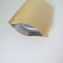 Stand Up Kraft Paper Chocolate/Candy Packing Bags With Window