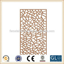 2014 Customized decorative hotel metal wooden screen room divider